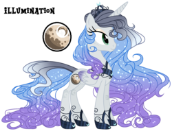 Size: 2753x2100 | Tagged: alicorn, artist:starling-sentry-yt, female, mare, oc, oc:illumination, oc only, offspring, parent:king sombra, parent:princess luna, parents:lumbra, pony, safe, simple background, solo, transparent background