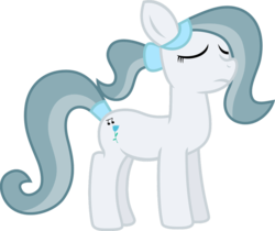 Size: 975x820 | Tagged: artist:hendro107, bow, earth pony, hair bow, oc, oc:silver bell, pony, sad, sad face, safe, vector