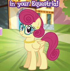 Size: 588x596 | Tagged: gameloft, glasses, jewelry, meme, mrs. shy, necklace, pearl necklace, pony, safe, screencap, wow! glimmer