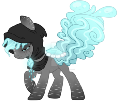 Size: 1024x869   Tagged: safe, artist:crystal-tranquility, oc, oc:weeping sorrow, original species, pond pony, pony, deviantart watermark, male, obtrusive watermark, simple background, solo, stallion, transparent background, watermark