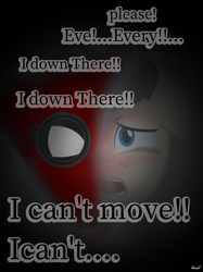 Size: 1400x1867 | Tagged: artist:99999999000, marvel, marvel cinematic universe, peter parker, ponified, pony, safe, solo, spider-man, spiderman homecoming, trapped