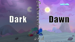 Size: 1600x900 | Tagged: between dark and dawn, cartoonito logo, edit, edited screencap, episode followup, equestria daily, pony, princess celestia, princess luna, safe, screencap, spoiler:s09e13