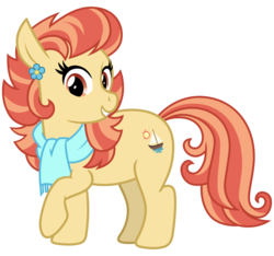 Size: 3200x3000 | Tagged: artist:cheezedoodle96, aunt holiday, chubby, clothes, earth pony, female, looking at you, mare, pony, raised hoof, safe, scarf, simple background, smiling, solo, spoiler:s09e12, svg, .svg available, the last crusade, transparent background, vector