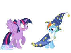 Size: 8000x6000 | Tagged: absurd res, alicorn, artist:nightmaremoons, clothes, costume, female, lesbian, pony, rainbow dash, safe, shipping, simple background, transparent background, twidash, twilight sparkle, twilight sparkle (alicorn), wings