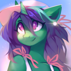 Size: 2048x2048 | Tagged: anthro, artist:lispp, bust, oc, oc:buggy code, oc only, safe, solo, unicorn