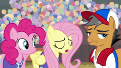 Size: 1920x1080 | Tagged: common ground, fluttershy, pinkie pie, quibble pants, safe, screencap, spoiler:s09e06