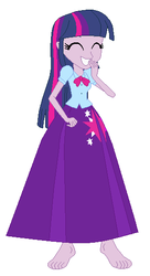 Size: 298x546 | Tagged: alicorn, alternate universe, alternate version, artist:hubfanlover678, barefoot, clothes, equestria girls, feet, long skirt, safe, skirt, solo, twilight sparkle, twilight sparkle (alicorn)