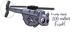 Size: 2424x1070 | Tagged: arma, artist:czu, black hornet, drone, flying, helipony, mechanical pony, oc, original species, plane, plane pony, pony, robot, safe, uav