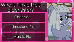 Size: 1366x768 | Tagged: cheerilee, limestone pie, marble pie, safe, youtube link