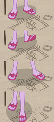 Size: 1275x2867 | Tagged: close-up, comic, edit, edited screencap, equestria girls, equestria girls series, feet, flip-flops, friendship math, legs, pictures of legs, safe, sci-twi, screencap, screencap comic, twilight sparkle, update