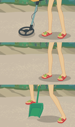 Size: 1366x2304 | Tagged: applejack, close-up, comic, edited screencap, equestria girls, equestria girls series, feet, flip-flops, foot focus, legs, lost and found, pictures of legs, safe, screencap, screencap comic
