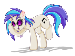 Size: 1024x768 | Tagged: artist:nemisis-draw100, cute, dj pon-3, female, mare, open mouth, pony, safe, signature, simple background, solo, transparent background, unicorn, vinylbetes, vinyl scratch