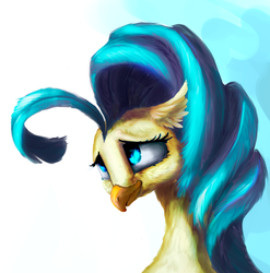 Size: 800x810 | Tagged: artist:feng-shui1301, bust, cute, hippogriff, my little pony: the movie, portrait, princess skystar, safe, skyabetes, solo