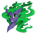 Size: 1090x1043 | Tagged: safe, artist:laptopdj, mane-iac, pony, bust, female, portrait, sketch, solo