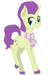 Size: 3136x4456 | Tagged: accessory, artist:paskanaakka, clothes, colored hooves, commission, digital art, female, happy, horn, mare, oc, oc only, oc:sky spark, part of a set, pony, raised leg, safe, scarf, simple background, smiling, solo, standing, transparent background, unicorn