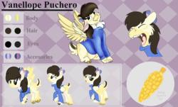 Size: 6000x3632   Tagged: safe, artist:euspuche, oc, oc:vanellope, bat pony, chimera, pony, reference sheet