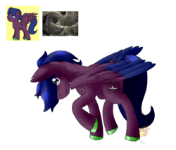 Size: 2008x1717 | Tagged: artist:midnightfire1222, oc, oc:yewberry, pegasus, pony, randomized pony, randomizer challenge, request, safe, solo