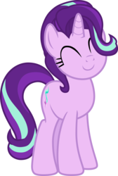 Size: 4000x5951 | Tagged: safe, artist:pilot231, starlight glimmer, pony, unicorn, student counsel, canon, cute, daaaaaaaaaaaw, eyes closed, female, glimmerbetes, mare, simple background, smiling, solo, transparent background, vector