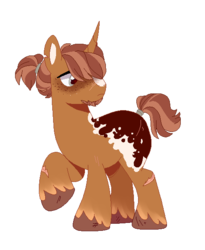 Size: 490x599 | Tagged: artist:iheyyasyfox, magical lesbian spawn, male, oc, offspring, parent:applejack, parents:tempestjack, parent:tempest shadow, pony, safe, simple background, solo, stallion, transparent background, unicorn