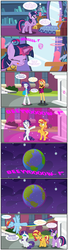 Size: 2320x8518 | Tagged: absurd res, alicorn, artist:bbbhuey, bipedal, canterlot high, comic, earth, equestria girls, equestria girls ponified, experiment, eyes closed, flying, global ponification, glowing horn, happy, horn, human, human to pony, magic, magic mirror, marshmelodrama, oops, pegasus, planet, ponified, pony, rainbow dash, raised hoof, rarity, safe, sheepish, spell gone wrong, sunset shimmer, sunset shimmer is not amused, tongue out, transformation, twilight sparkle, twilight sparkle (alicorn), unamused, unicorn, vector, we don't normally wear clothes
