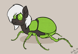 Size: 1358x943 | Tagged: artist:spookitty, changeling, green changeling, insect, oc, oc:jack sunshine, raffle prize, safe, solo