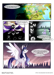 Size: 3500x4900 | Tagged: alicorn, artist:iheyyasyfox, comic:first day of school, equestria, female, map, mare, oc, oc only, oc:stella alba nyx, offspring, parent:flash sentry, parents:flashlight, parent:twilight sparkle, pony, safe