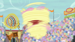 Size: 1280x720 | Tagged: common ground, fluttershy, pegasus, pony, safe, screencap, solo, spinning, spoiler:s09e06