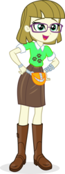 Size: 2944x7853   Tagged: safe, artist:punzil504, zippoorwhill, equestria girls, boots, clothes, cute, equestria girls-ified, fanny pack, female, glasses, miniskirt, shoes, simple background, skirt, solo, transparent background, zippoorbetes
