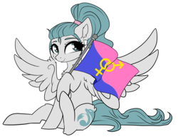 Size: 1920x1503 | Tagged: artist:kxttponies, female, flag, mare, oc, oc:kitt, pegasus, pony, pride, pride flag, safe, simple background, solo, straight pride flag, transparent background