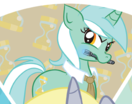 Size: 132x104 | Tagged: safe, derpy hooves, lyra heartstrings, alicorn, pony, magical mystery cure, alicornified, derpicorn, merchandise, race swap, swapped cutie marks, welovefine