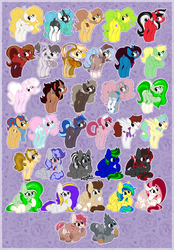 Size: 2145x3090 | Tagged: artist:kellythedrawinguni, butt, classical hippogriff, clothes, commission, dock, earth pony, female, glasses, griffon, griffon oc, hippogriff, hippogriff oc, male, mare, oc, oc:bramble angel mele, oc:bubbly joy, oc:cherry spirit, oc:cinnabyte, oc:daylily, oc:ember burd, oc:graph travel, oc:jarlo, oc:lock down, oc:marshmallow fluff, oc only, oc:rosalia, oc:salad dressing, oc:scoops, oc:skittle, oc:sky, oc:velvet skies, pegasus, plot, pony, safe, socks, stallion, unicorn, ych result, your character here