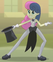 Size: 445x514 | Tagged: all's fair in love and friendship games, bon bon, cropped, equestria girls, safe, screencap, solo, sweetie drops