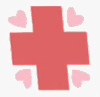 Size: 100x97 | Tagged: safe, screencap, nurse redheart, applebuck season, cropped, cutie mark, no pony, picture for breezies, solo