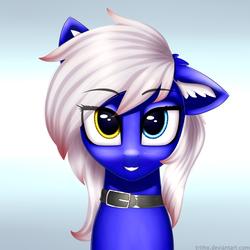 Size: 4000x4000   Tagged: safe, alternate version, artist:konidouga, oc, oc:azure mist, pegasus, pony, heterochromia, solo, ych result