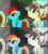 Size: 1066x1175 | Tagged: safe, color edit, edit, edited screencap, editor:ponimalion, screencap, rainbow dash, torque wrench, earth pony, pegasus, pony, rainbow roadtrip, spoiler:rainbow roadtrip, atorqueable, colored, cute, dashabetes, discovery family, discovery family logo, female, hope hollow, mare, saturated, that was fast