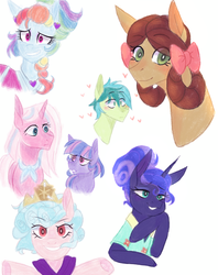 Size: 746x944 | Tagged: artist:waterz-colrxz, between dark and dawn, clear sky, common ground, cozy glow, female, frenemies (episode), male, pegasus, ponified, pony, pony yona, princess luna, rainbow dash, safe, sandbar, she's all yak, shipping, sparkle's seven, species swap, spoiler:s09e04, spoiler:s09e06, spoiler:s09e07, spoiler:s09e08, spoiler:s09e13, straight, wind sprint, yona, yonabar