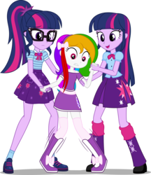 Size: 2546x2952 | Tagged: artist:zacatron94, duality, equestria girls, equestria girls-ified, equestria girls series, geode of telekinesis, learning, magical geodes, oc, oc:shining star, safe, sci-twi, simple background, transparent background, twilight sparkle, twolight, walking