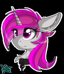 Size: 4000x4600 | Tagged: safe, artist:radbat, oc, oc:blossom, pony, unicorn, bust, unicorn oc