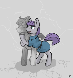 Size: 4142x4402 | Tagged: artist:dombrus, boulder (pet), clothes, dress, earth pony, female, male, mare, maudbriar, maud pie, mudbriar, open mouth, petrification, pet rock, pony, rock, rockbriar, safe, shipping, spoiler:s09e11, stallion, straight, student counsel, that pony sure does love rocks