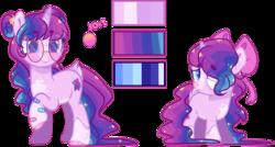 Size: 1280x688   Tagged: safe, artist:jxst-alexa, oc, oc:athena, pony, unicorn, female, filly, glasses, mare, reference sheet, simple background, solo, transparent background