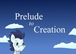Size: 2480x1754   Tagged: safe, artist:greeneyedmistress, soarin', pony, comic:prelude to creation, cloud, male, sky, solo, stallion