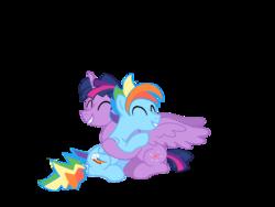 Size: 1024x768   Tagged: safe, artist:turnaboutart, rainbow dash, twilight sparkle, alicorn, pony, base used, dusk shine, duskblitz, gay, male, rainbow blitz, rule 63, shipping, twidash, twilight sparkle (alicorn)