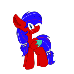 Size: 1378x1378 | Tagged: safe, artist:circuspaparazzi5678, oc, pegasus, pony, adopted, bow, liberty, mabel
