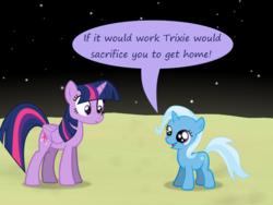 Size: 1200x900 | Tagged: safe, artist:evil-dec0y, trixie, twilight sparkle, alicorn, pony, comic:trixie vs., twilight sparkle (alicorn)