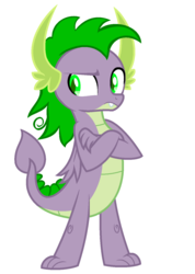 Size: 1000x1401 | Tagged: artist:alpha-power, dragon, mean spike, older, older spike, safe, spike, the mean 6, winged spike