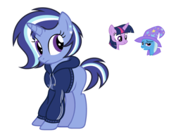Size: 1024x798 | Tagged: artist:sapphiretwinkle, female, lesbian, magical lesbian spawn, oc, offspring, parents:twixie, parent:trixie, parent:twilight sparkle, safe, shipping, trixie, twilight sparkle, twixie