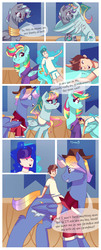 Size: 1212x3000 | Tagged: safe, artist:xjenn9fusion, oc, oc:aerial agriculture, oc:earthing elements, oc:princess mythic majestic, oc:princess sincere scholar, oc:tommy the human, alicorn, human, pony, comic:fusing the fusions, comic:time of the fusions, alicorn oc, aunt and nephew, clothes, comic, commissioner:bigonionbean, cute, family, female, fusion, fusion:aerial agriculture, fusion:earthing elements, fusion:princess mythic majestic, fusion:princess sincere scholar, glasses, grandfather and grandchild, grandparent and grandchild moment, grandparents, grandson, hat, hugging a pony, human oc, magic, male, mare, mother and daughter, riding, stallion, stripes, writer:bigonionbean