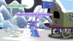 Size: 1280x720 | Tagged: safe, artist:evil-dec0y, trixie, pony, comic:trixie vs., trixie's wagon