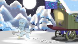 Size: 1280x720 | Tagged: safe, artist:evil-dec0y, oc, pony, comic:trixie vs., trixie's wagon
