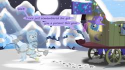 Size: 1280x720 | Tagged: safe, artist:evil-dec0y, trixie, oc, pony, comic:trixie vs., trixie's wagon